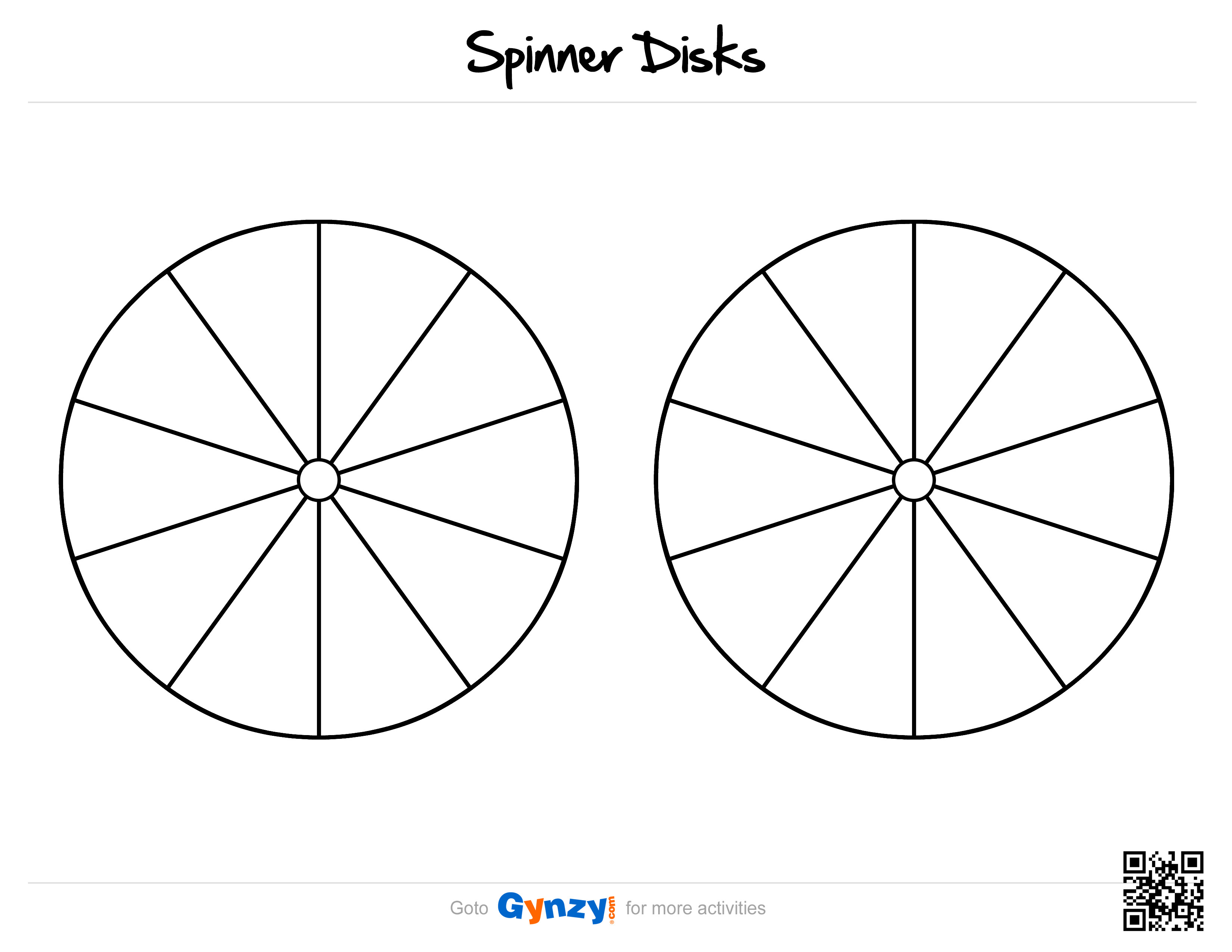 Blank Spinner Template Pin by Elizabeth Carmichael On Fitkids⛹ after School