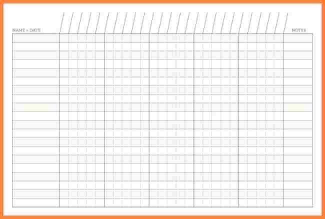 Blank Spreadsheet to Print 7 Free Printable Blank Spreadsheet Templates