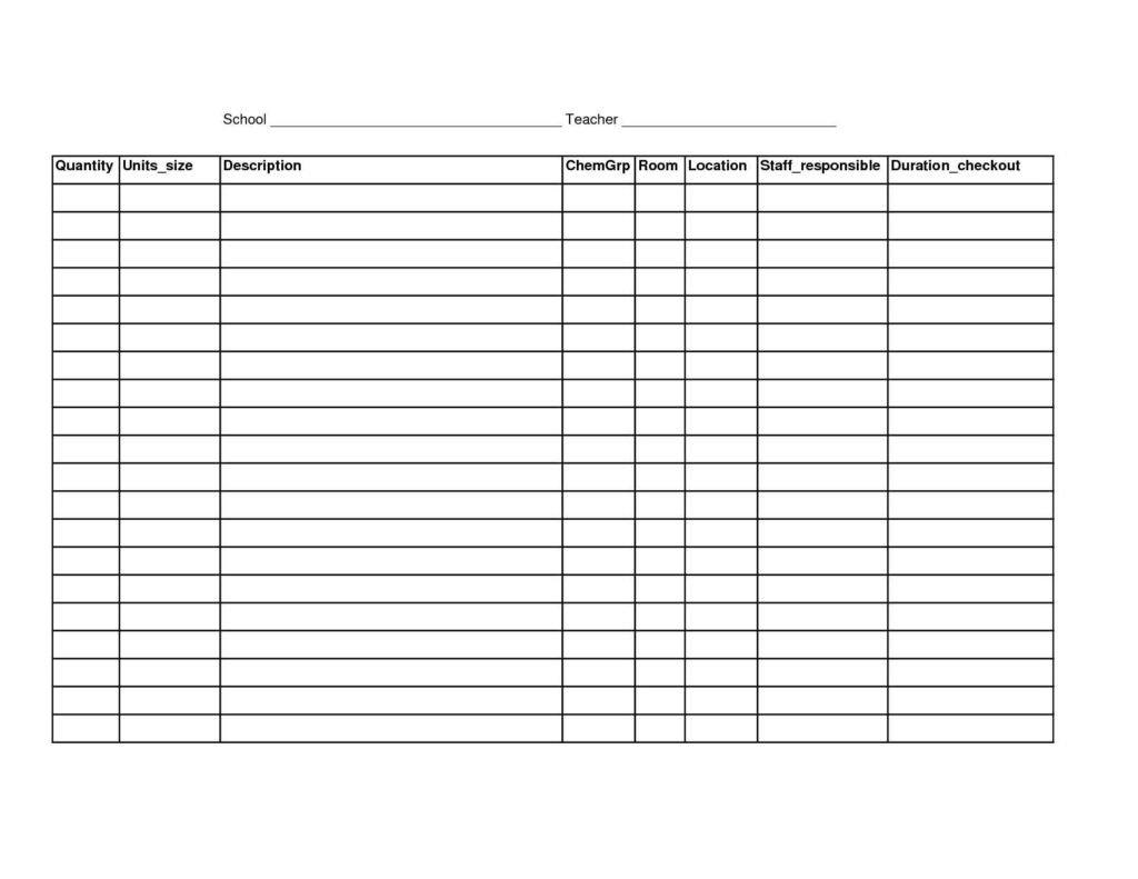 Blank Spreadsheet to Print Printable Spreadsheet Template Printable Spreadsheet