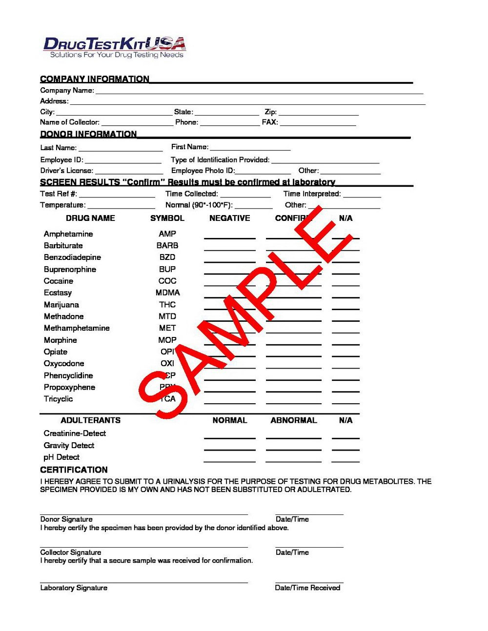 Blank Std Test Results form Negative Std Test Results form 2015 forms 7013
