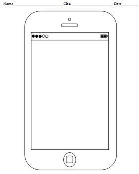 Blank Texting Template Blank Cell Phone Templates 4 Templates