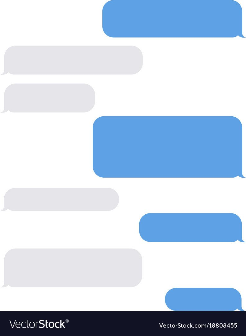 Blank Texting Template Empty Text Message iPhone