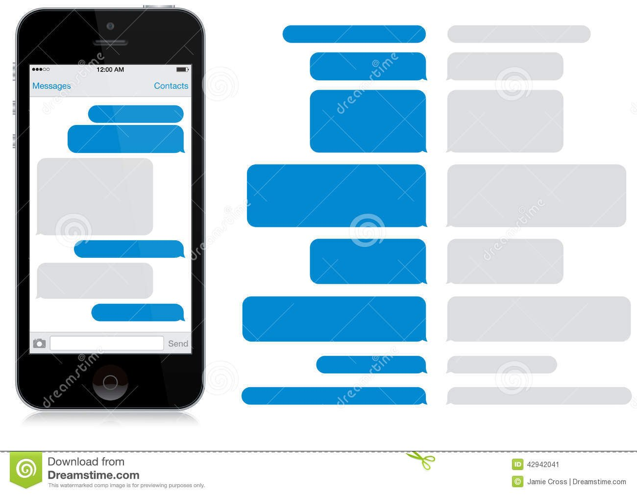 Blank Texting Template Smart Phone Chat Window App Editorial Image Of