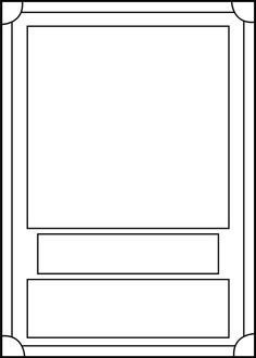 Blank Trading Card Template Baseball Card Template