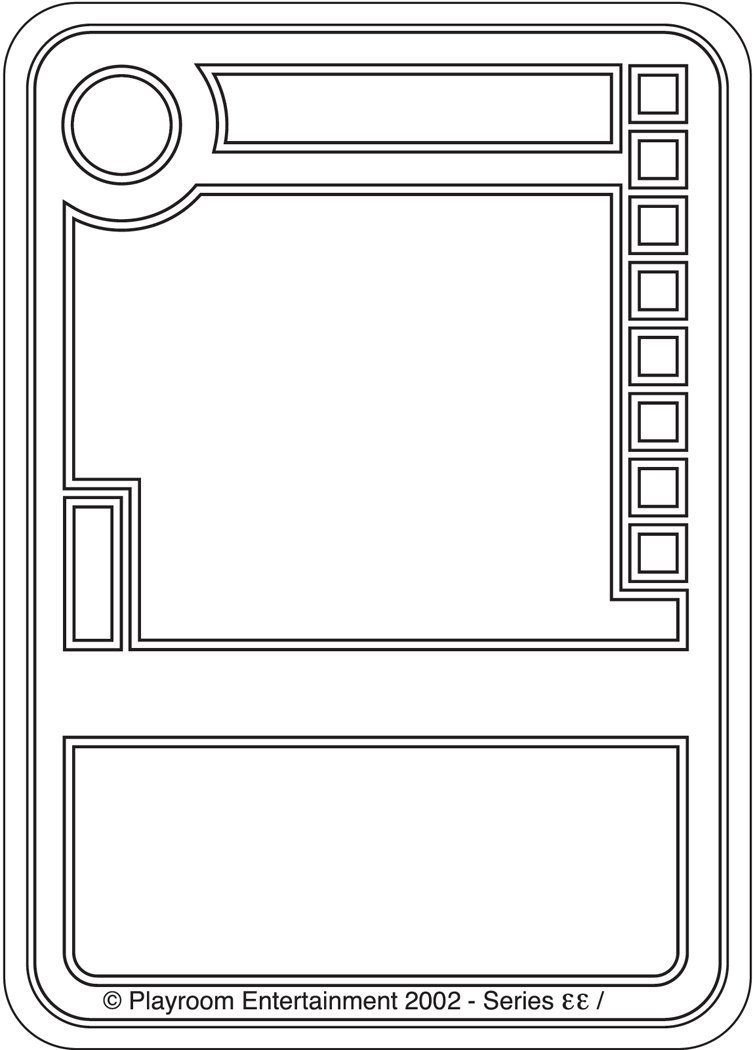 Blank Trading Card Template Blank Trading Cards