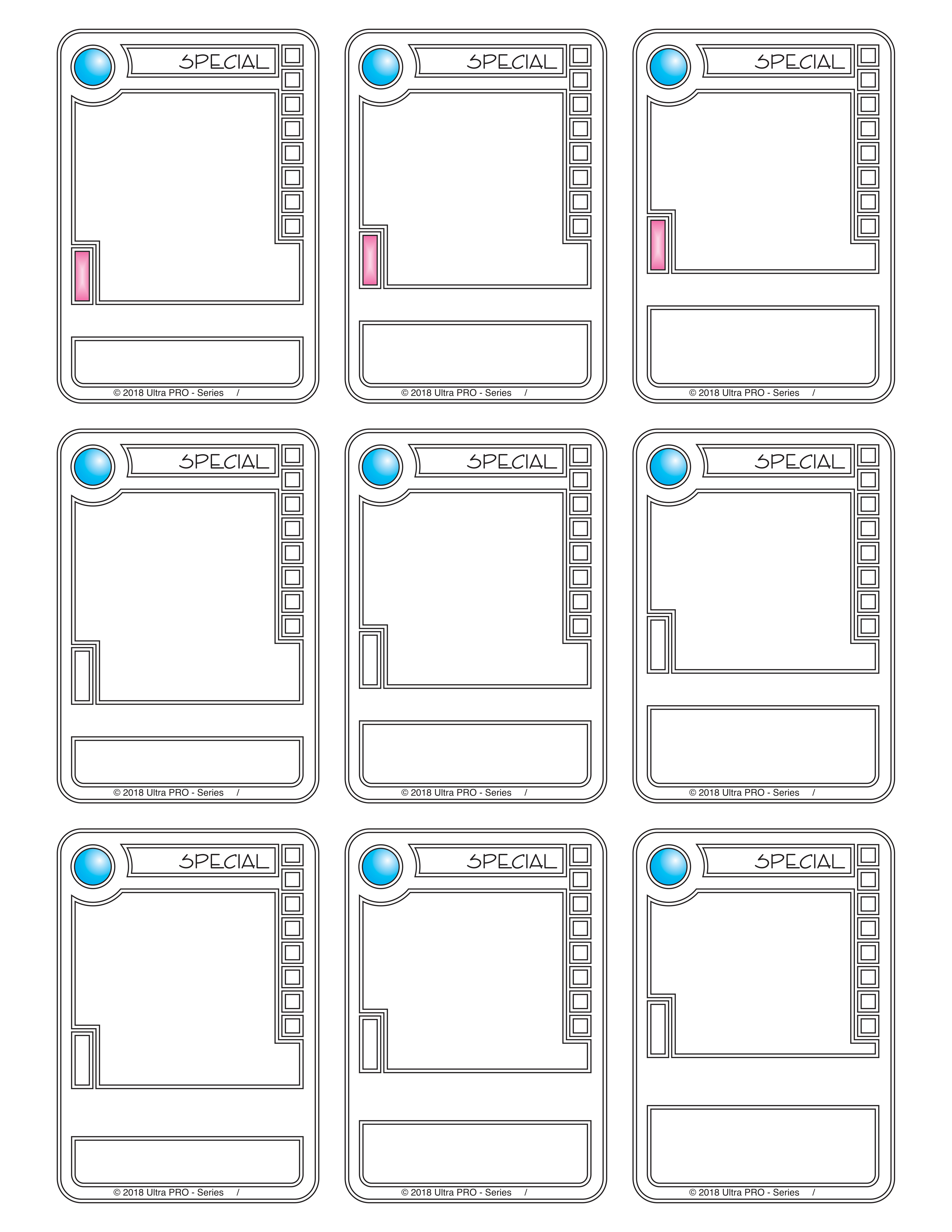 Blank Trading Card Template Killerbunnies