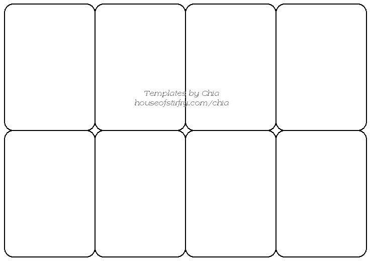 Blank Trading Card Template Templete for Playing Cards Artist Trading Cards