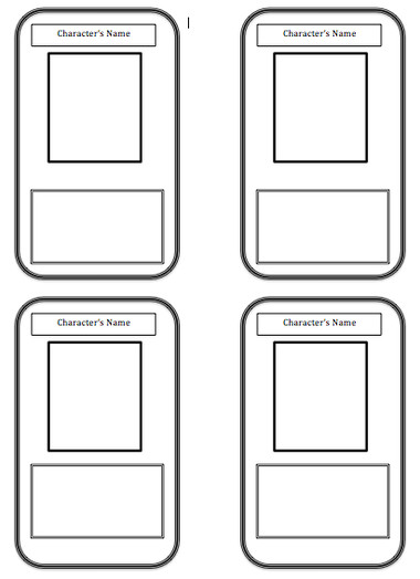 Blank Trading Card Template Trading Card Template