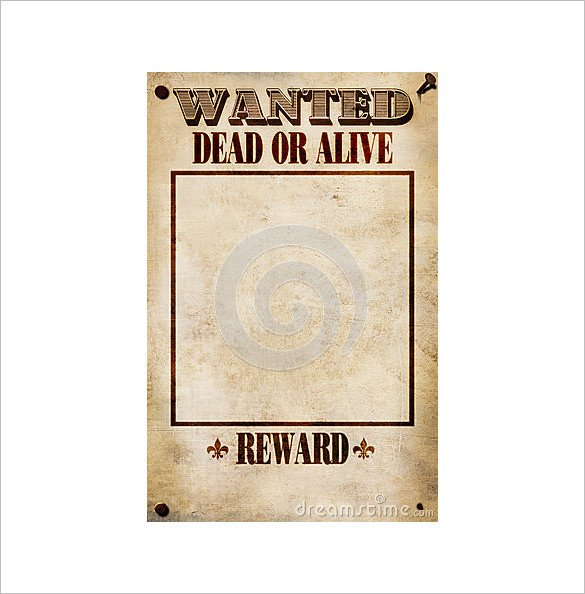Blank Wanted Poster Template 14 Blank Wanted Poster Templates Free Printable Sample