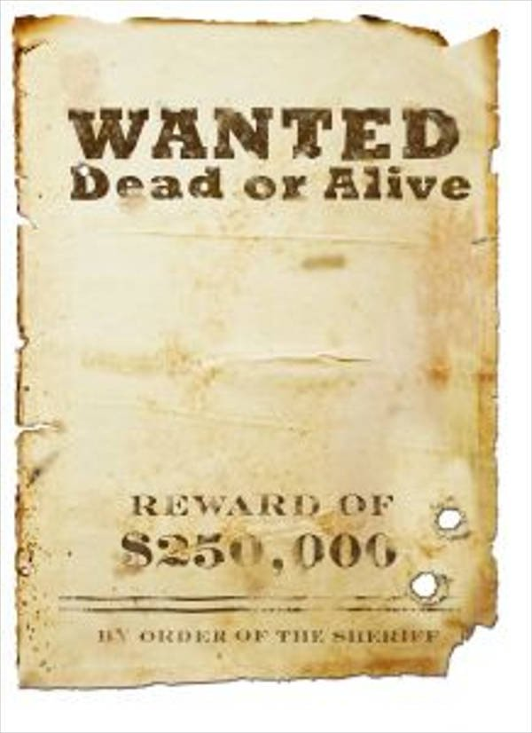 Blank Wanted Poster Template 18 Wanted Poster Design Templates In Psd
