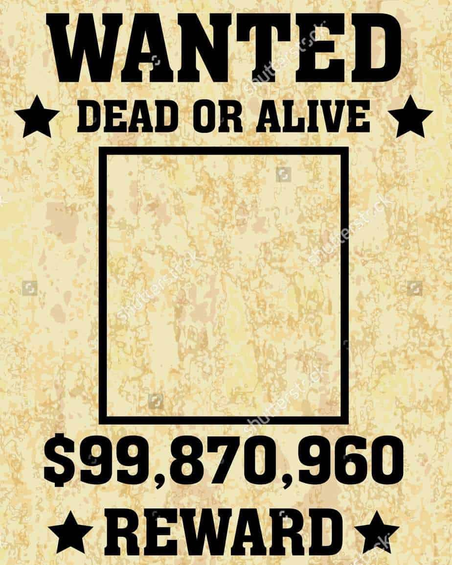 Blank Wanted Poster Template 6 Wanted Poster Templates Word Excel Templates