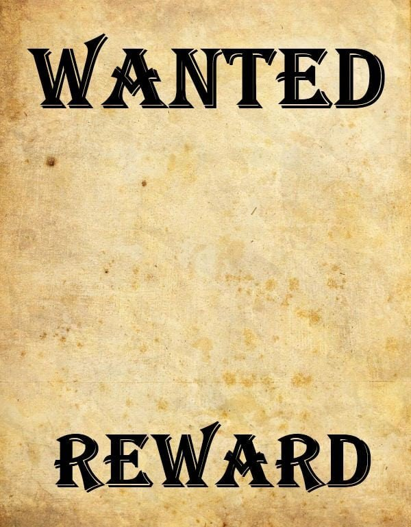 Blank Wanted Poster Template 9 Wanted Poster Templates Word Excel Pdf formats