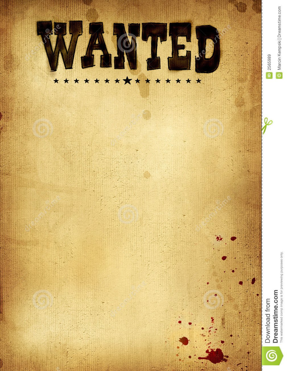 Blank Wanted Poster Template Old West Wanted Poster Clipart 20 Free Cliparts