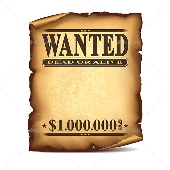Blank Wanted Poster Template Wanted Poster Template 20 Download Documents In Psd