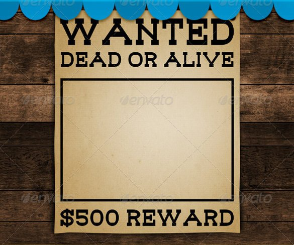 Blank Wanted Poster Template Wanted Poster Template 34 Free Printable Word Psd