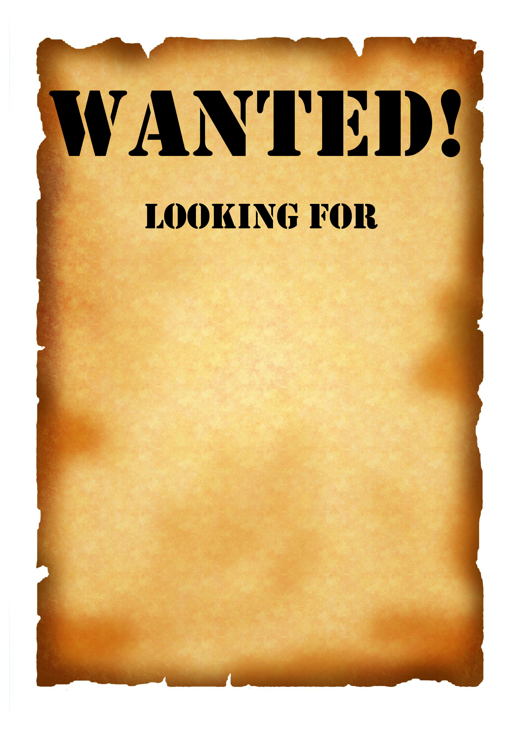 Blank Wanted Poster Template Wanted Poster Template