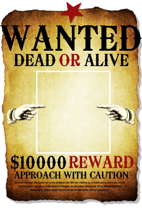 Blank Wanted Poster Template Wanted Template