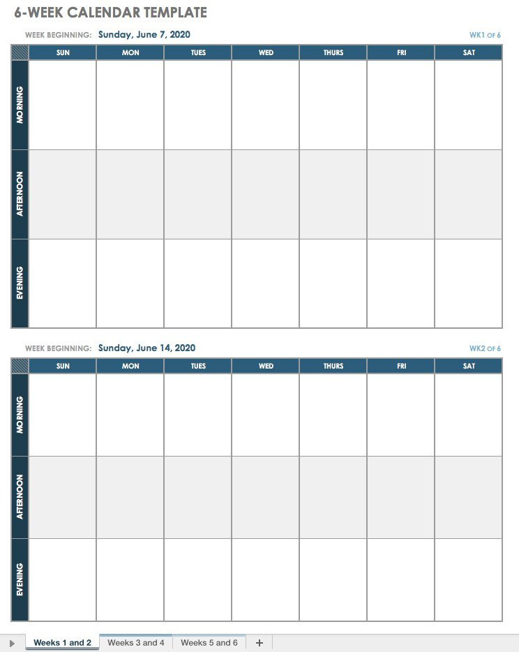 Blank Weekly Calendar Template 15 Free Weekly Calendar Templates