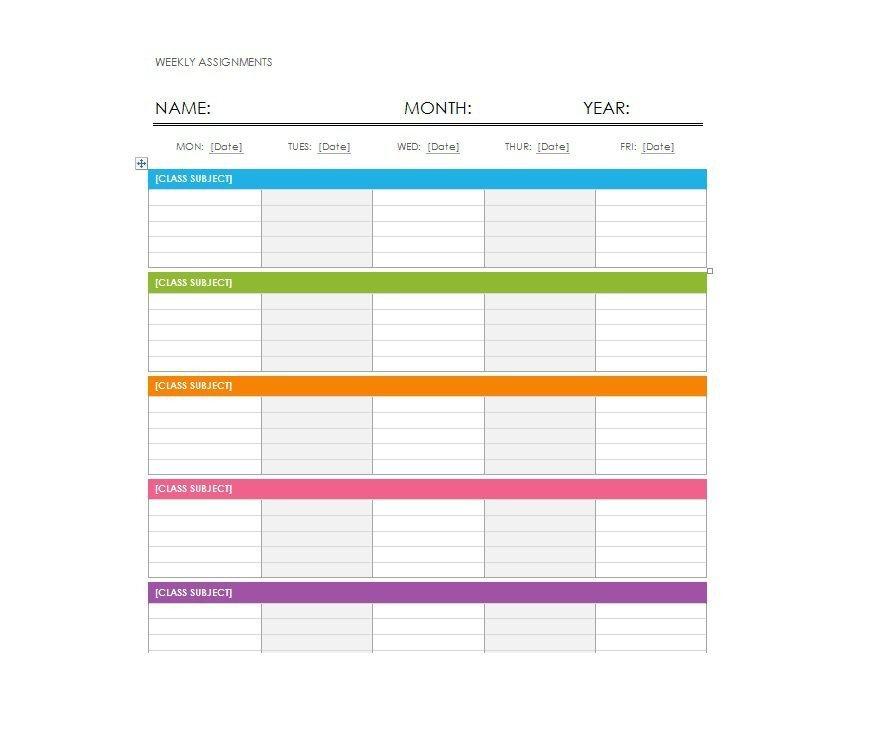 Blank Weekly Calendar Template 26 Blank Weekly Calendar Templates [pdf Excel Word]