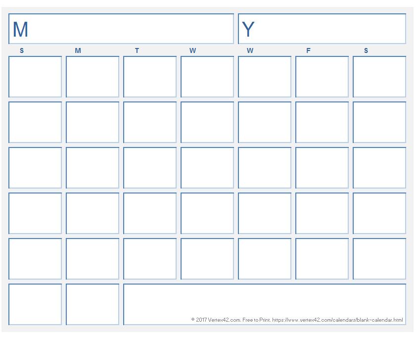 Blank Weekly Calendar Template Blank Calendar Template Free Printable Blank Calendars