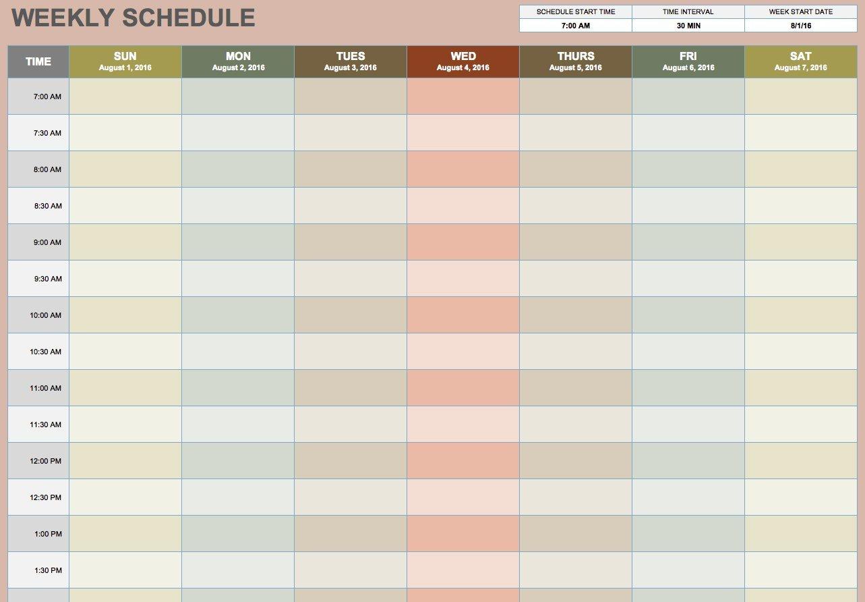 Blank Weekly Calendar Template Free Blank Calendar Templates Smartsheet