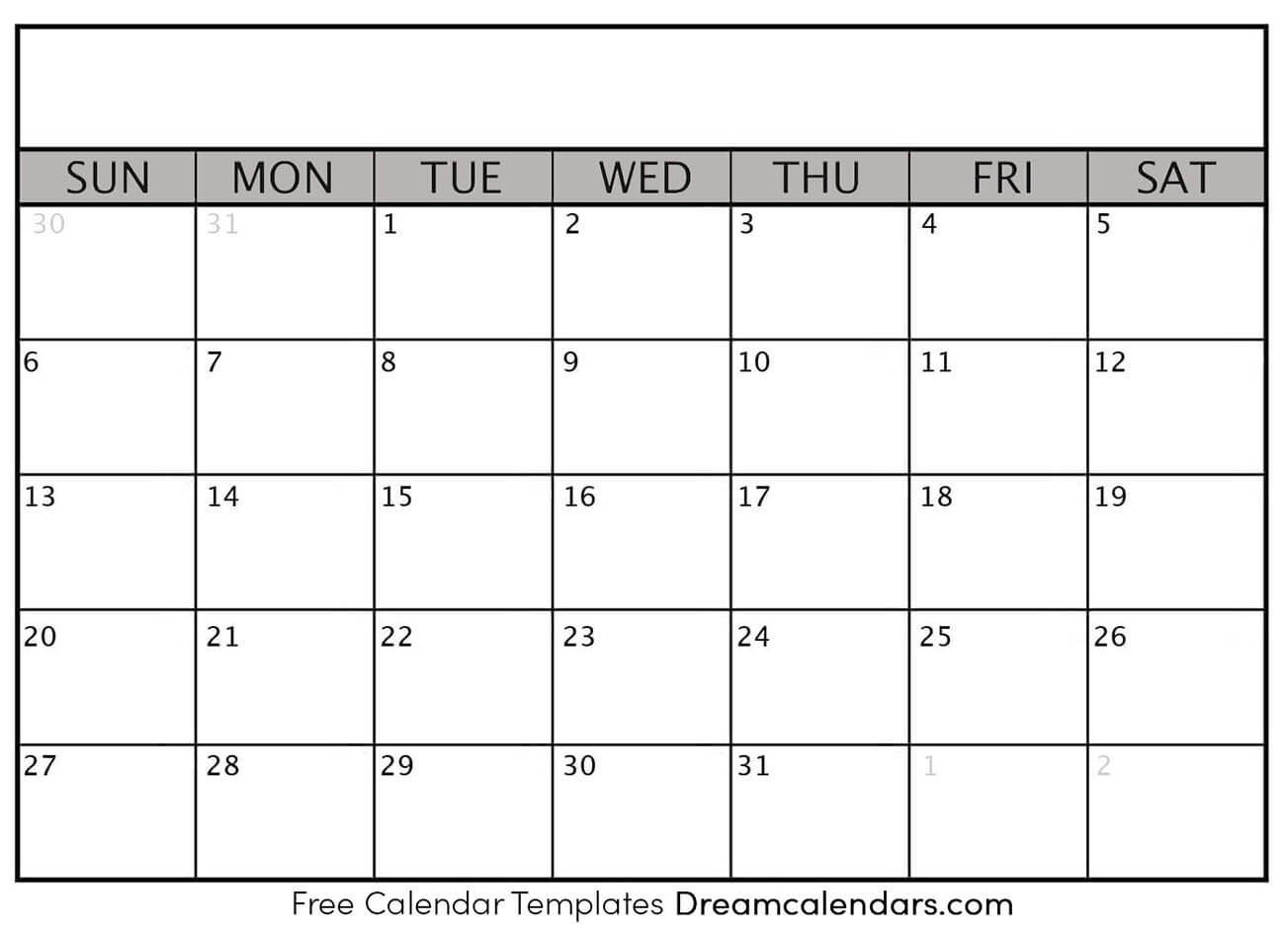 Blank Weekly Calendar Template Printable Blank Calendar Dream Calendars