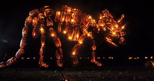 Blaze Pumpkin Carving Giant Pumpkin Sculptures at the Great Jack'o Lantern Blaze