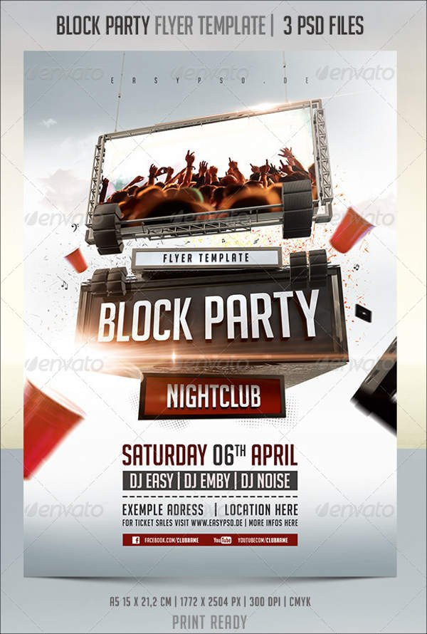 Block Party Flyer Templates 18 Amazing Block Party Flyer Designs Psd Ai Indesign