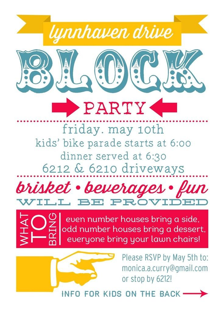 Block Party Flyer Templates 25 Best Ideas About Block Party Invites On Pinterest