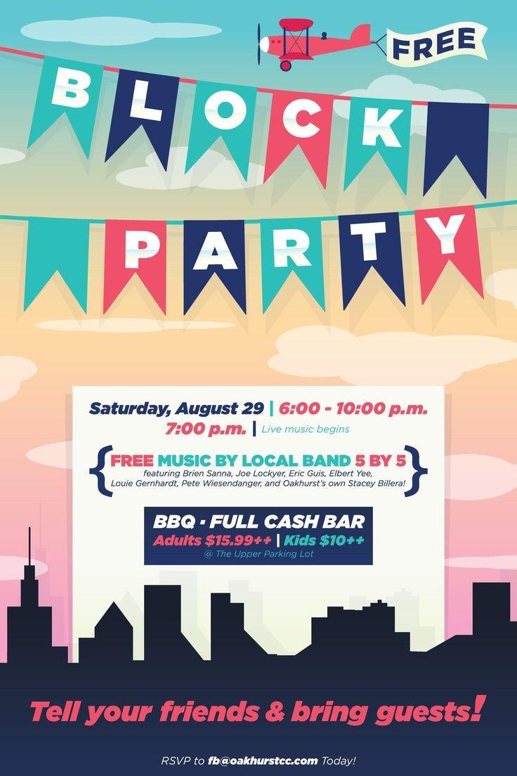 Block Party Flyer Templates Best 25 Block Party Invites Ideas On Pinterest