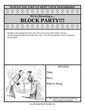 Block Party Flyer Templates Block Party Flyer