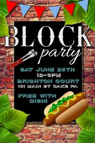 Block Party Flyer Templates Customizable Design Templates for Block Party