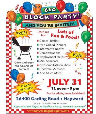 Block Party Flyer Templates Hayward Seventh Day Adventist Church News Big Block