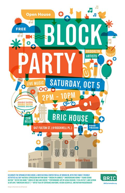 Block Party Flyer Templates New Venue Bric House Opens by Bam Block Party Saturday