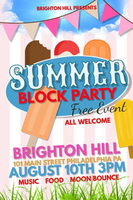 Block Party Flyer Templates Summer Block Party Template