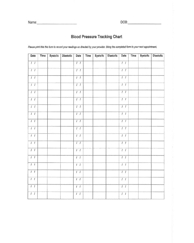 Blood Pressure Chart Printable 2019 Blood Pressure Log Chart Fillable Printable Pdf