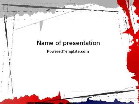 Blood Splatter Powerpoint Templates Free Blood Splatter theme Powerpoint Template by