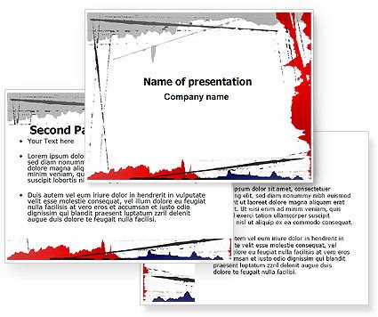 Blood Splatter Powerpoint Templates Free Blood Splatter theme Powerpoint Template