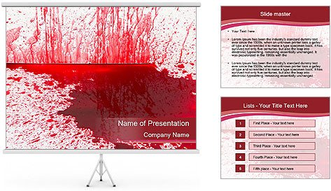 Blood Splatter Powerpoint Templates Template Gallery Page 5