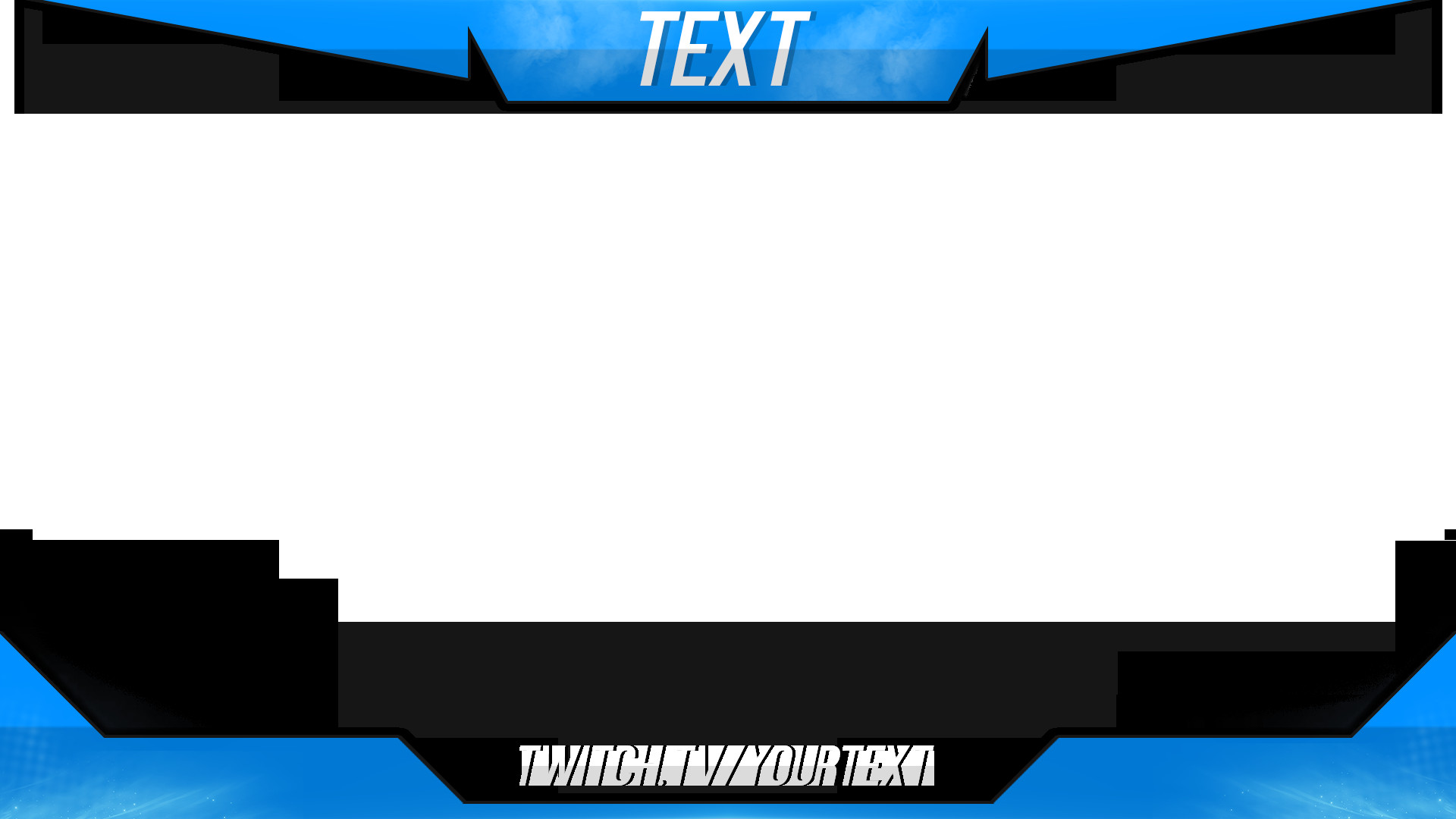 Blue Facecam Border 15 Twitch Stream Overlay Psd Twitch Stream