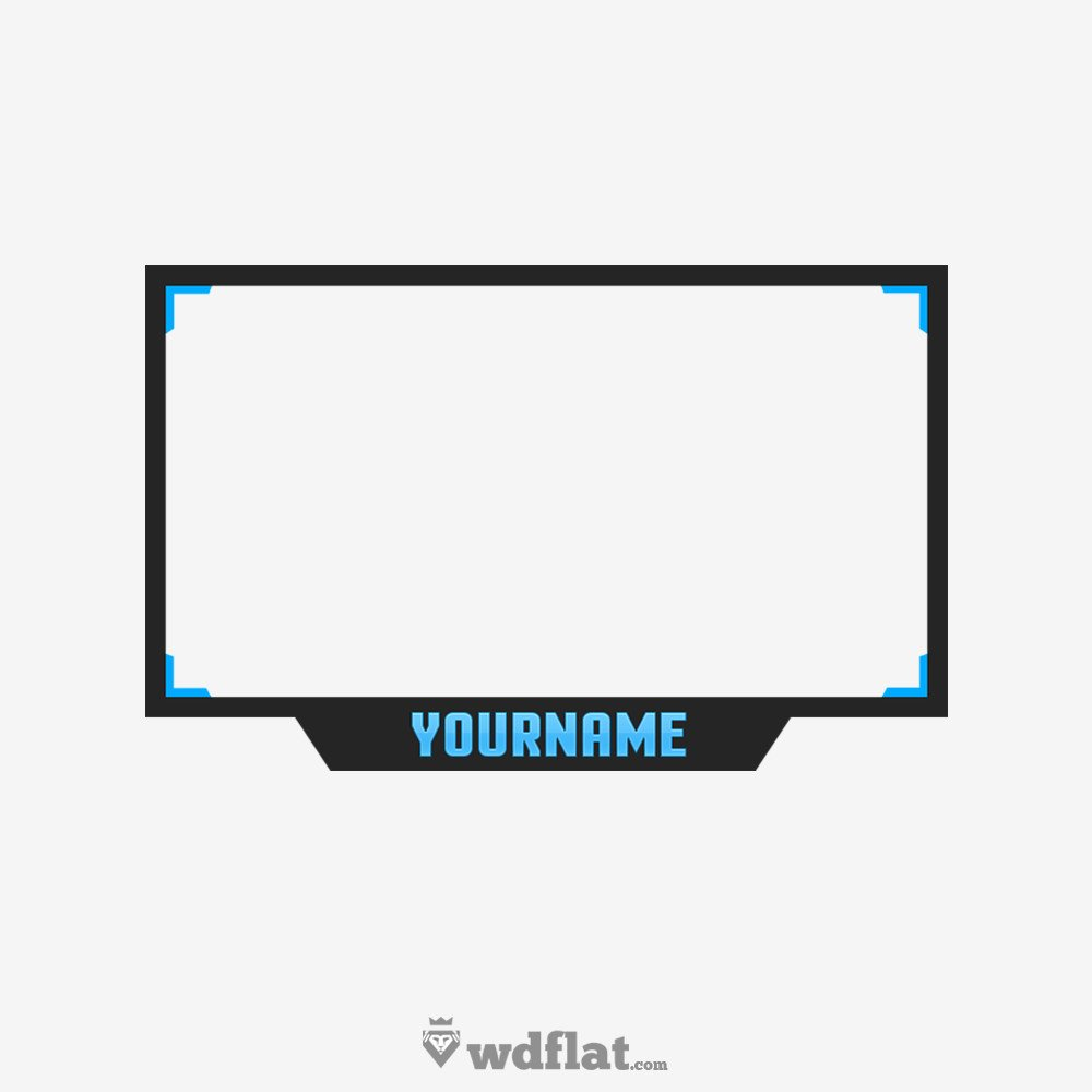 Blue Facecam Border Simple Facecam