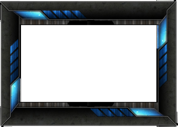 Blue Facecam Border Tech Frame Png Hd