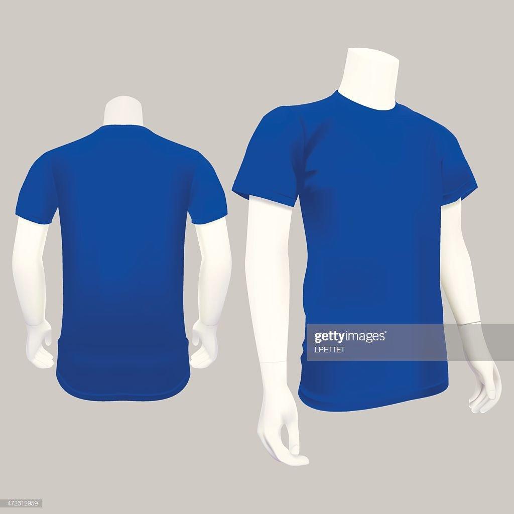 Blue T Shirt Template Blue Tshirt Template Vector Illustration Vector Art