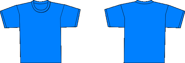 Blue T Shirt Template Bluet Shirt Template Clip Art at Clker Vector Clip