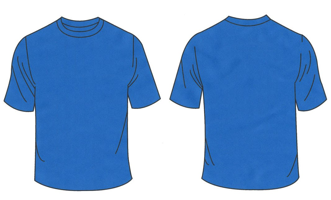 Blue T Shirt Template Free Blank T Shirt Outline Download Free Clip Art Free