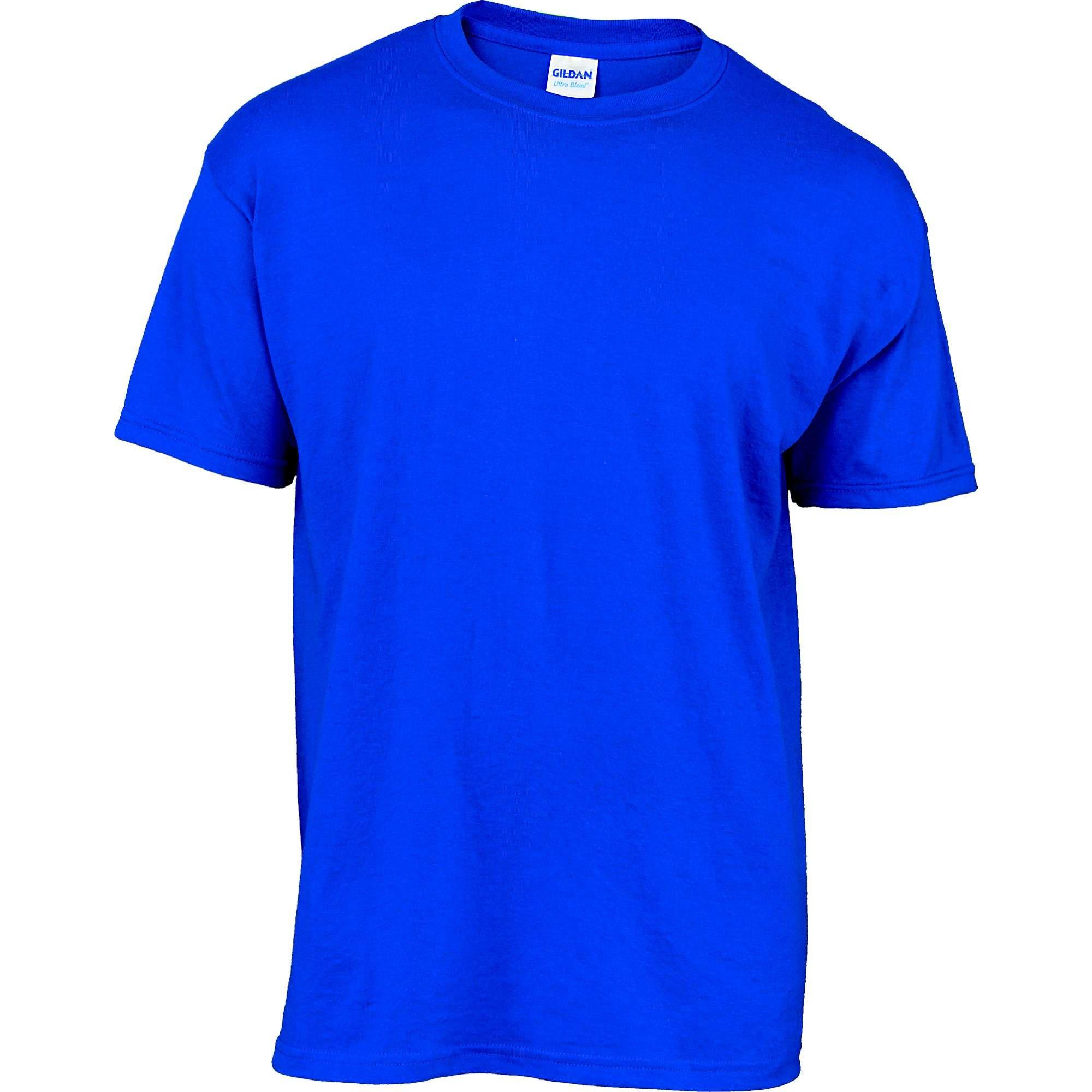 Blue T Shirt Template Gildan Adult 50 50 Customizable 1 Color Logo Camp T Shirt