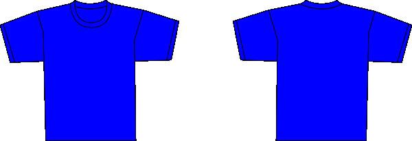 Blue T Shirt Template Grey T Shirt Template Clip Art at Clker Vector Clip