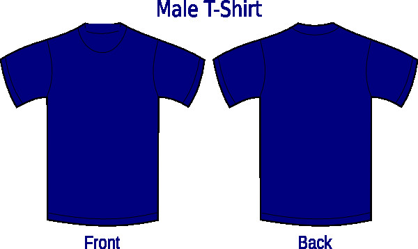 Blue T Shirt Template Navy Blue Shirt Clip Art at Clker Vector Clip Art