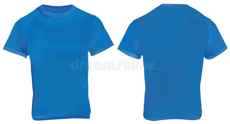 Blue T Shirt Template Navy Blue Shirt Template Stock Vector Illustration Of