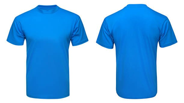 Blue T Shirt Template Royalty Free T Shirt Front and Back and